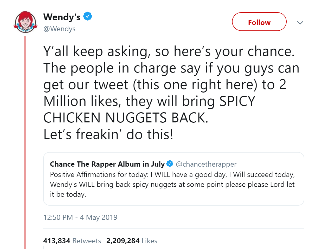 Wendy's Twitter Screen Shot
